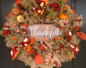 Built with LOVE Welcome Wreath BLESSEDCreationsbyV THANKFUL WREATH Everyday Wreath