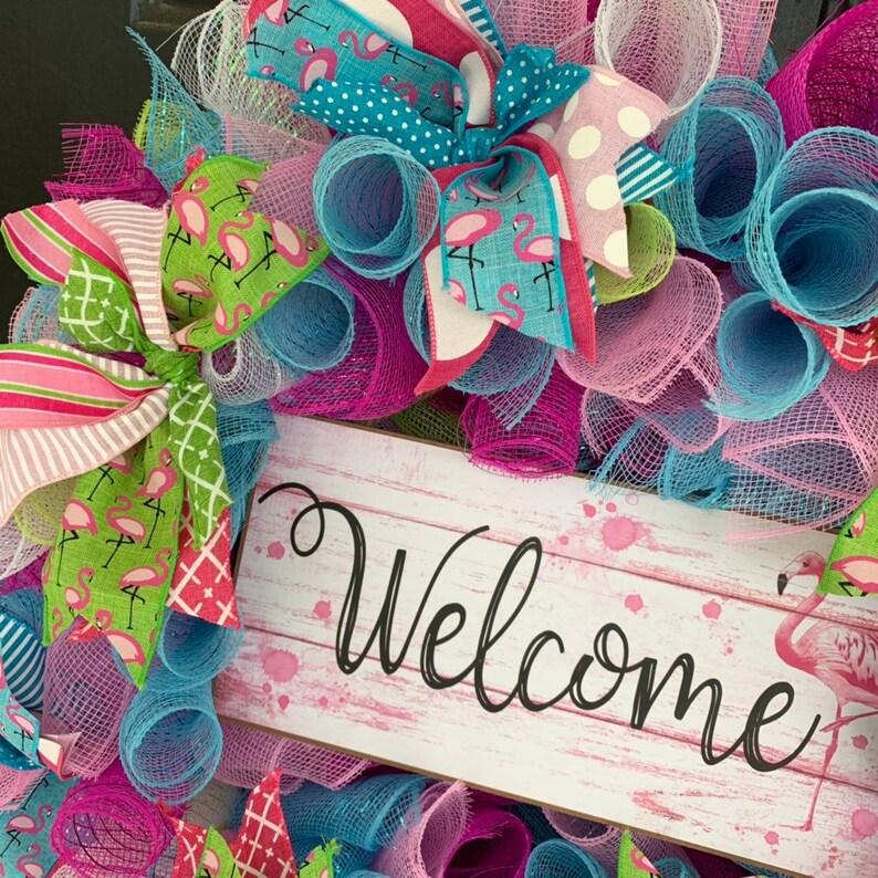 Flamingo Welcome wreathFlamingo Wreath