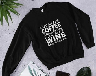 LORD GIVE ME COFFEE TO THE CHANGE WINE Royal Blue Cotton Unisex T-Shirt Tee