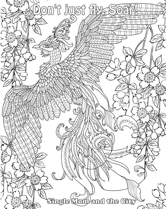 28+ Phoenix Bird Phoenix Coloring Page