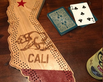 Cali State Cribbage Board - Personalized, Customized