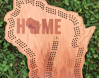 HOME Wisconsin Cribbage Board