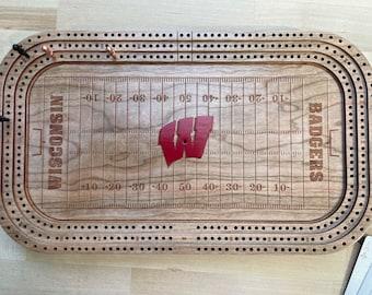 University of Wisconsin - Camp Randall Stadium / Badger Hockey - Cribbage Board