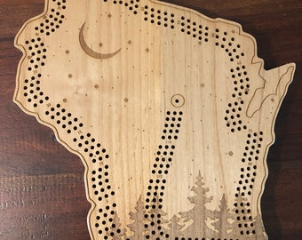 Up North Wisconsin Cribbage Board