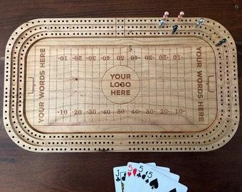 Personalized Hockey Rink / Football Stadium Cribbage Boards
