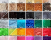 Smooth SHORT PILE PLUSH - Craft faux fur fabric pieces or squares for cosplay costume sewing, petplay ears tails, doll toy making, diy