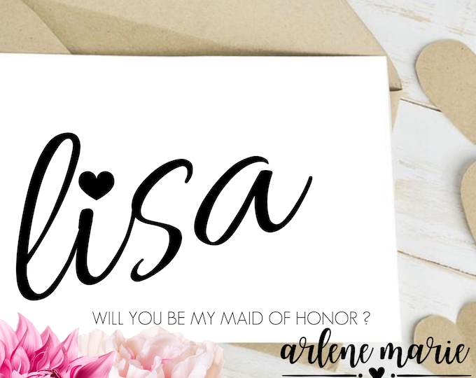 Personalized Will You Be My Bridal Party Proposal Cards | Digital Print Bundle, Maid of Honor, Bridesmaid, Flower Girl, Bridal Party
