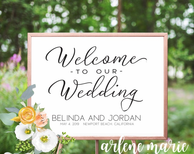 Welome To Our Wedding Event Sign Digital Print Bundle