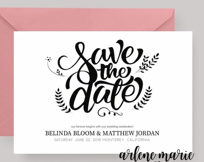 Save the Date Card Digital Print