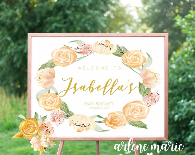 Welome To Baby Shower Event Sign Digital Print Bundle