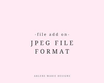 JPEG Files Custom Add On   JPEG File Format Add On