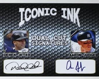 Babe Ruth Derek Jeter Aaron Judge Iconic Ink Triple Cuts fasc auto New York Yankees Mint