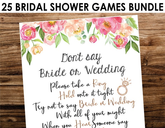 Marsala and Pink Printable HOLLY Collection Instant Download PDF EDITABLE How Well Do you know the Bride Bridal Shower Game Template