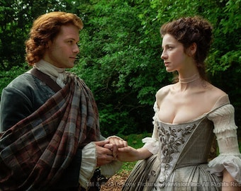 OUTLANDER Jamie Fraser's Wedding Plaid Poly/Viscose Tartan - Made in the USA from the Official Tartan Woven in Scotland