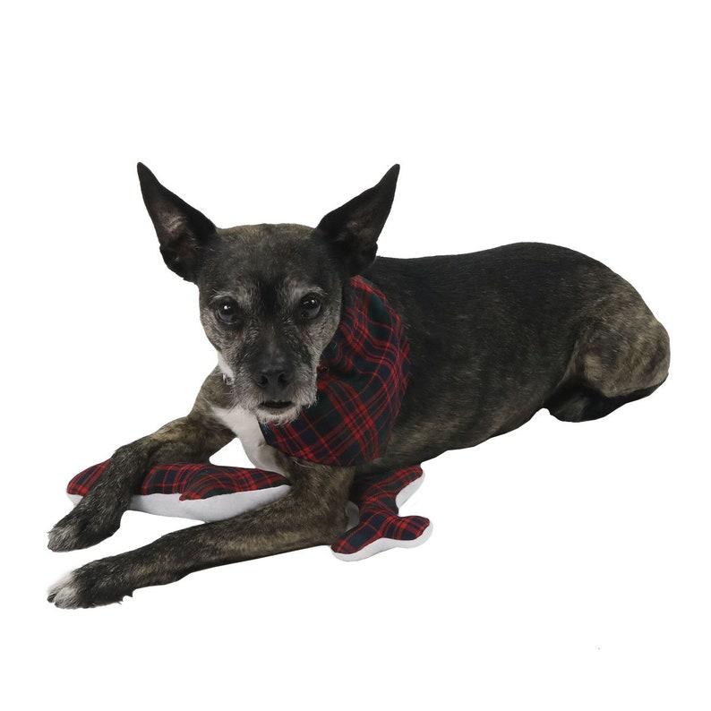 Homespun Wool Blend Tartan Bandana Dog Collar Made in the US