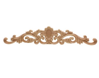 Wood carved furniture applique pair trade me