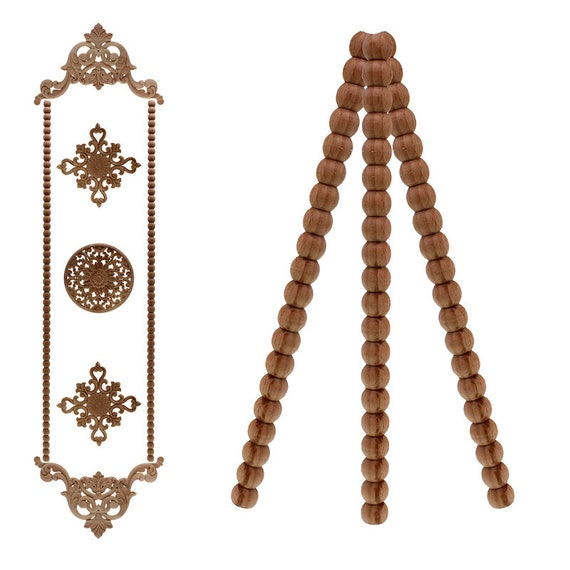 Rubber Wood Carved Onlay Applique, Decorative Appliques For Furniture Nz