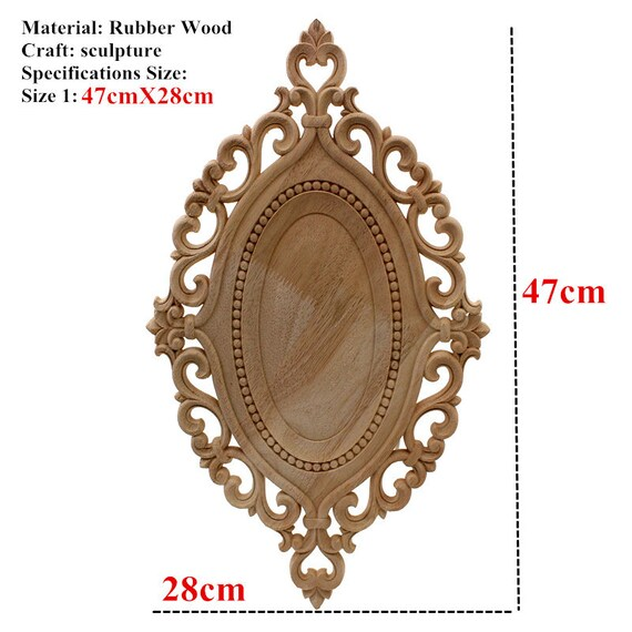 Unpainted Corner Carved Decal Onlay Decor Furniture Frame Woodcarving Applique
