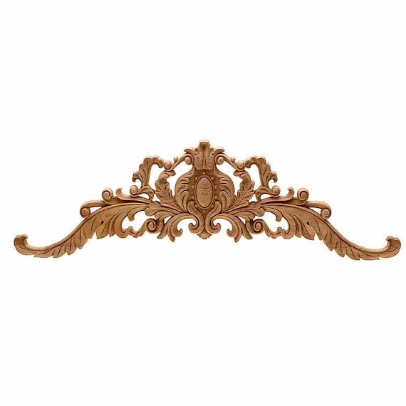 Wood Carved Applique Frame Corner Furniture Craft Art DIY Cabinets 3 Designs