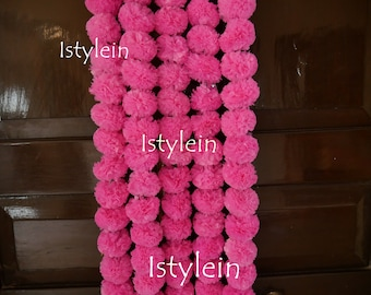 4 ready to ship Periwinkle flower garland photo prop party backdrop Pink artificial flower strand fall wedding decor flower curtains