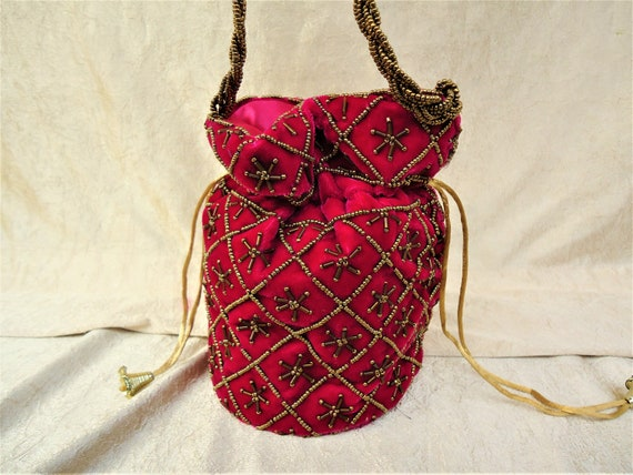 Ethnic Potli Bags in red