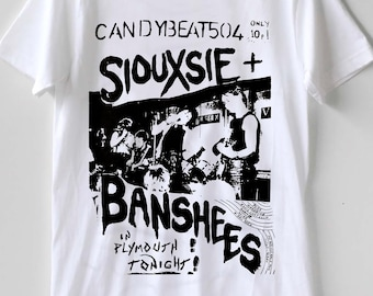 f45cba02ff0ab7 Siouxsie and The Banshees Live Tour Candybeat 504 Punk Rock T-shirt Size  Best Item S - XXL