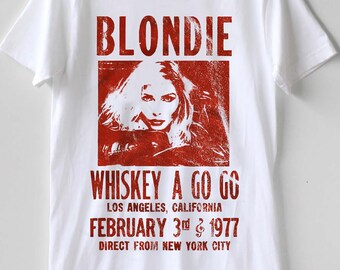 d1b651a9 Blondie Whiskey A Go Go Tour Live Concert Punk Rock Distressed Tshirt Size  Best Item S - XXL