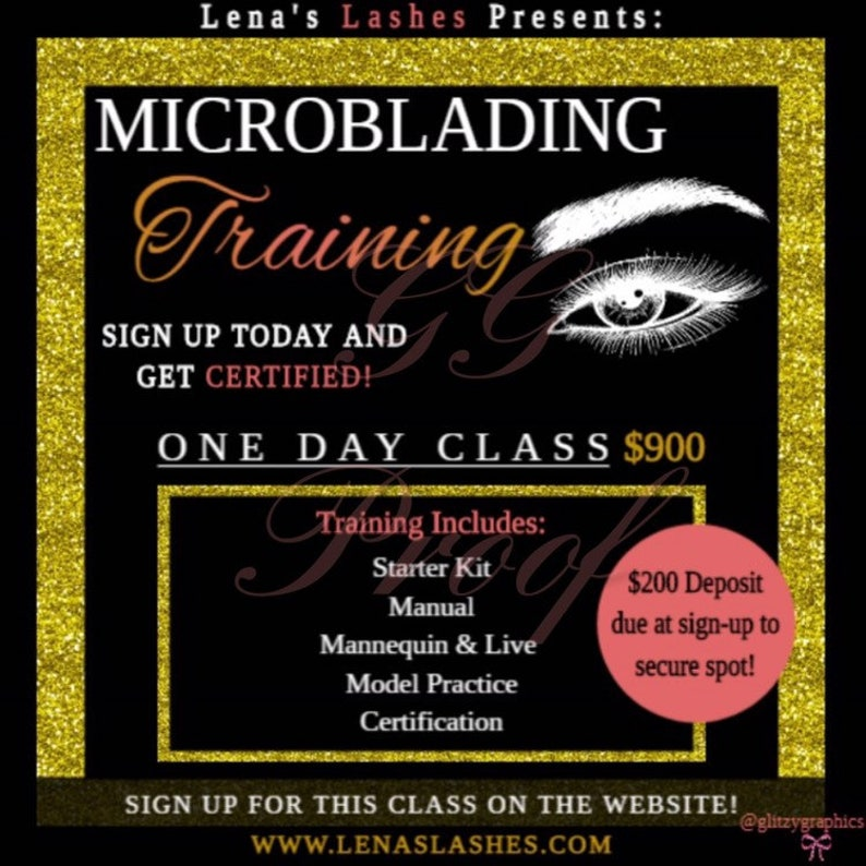 Premade Customized Microblading Training Flyer