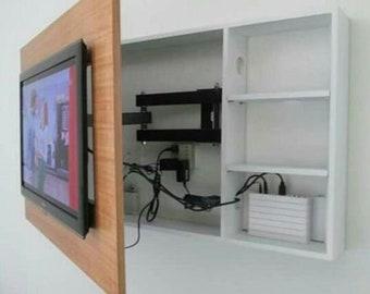 Tv Wall Cabinet Etsy