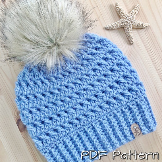 The Sea Star Offshore Beanie PDF Pattern6 Sizes Included