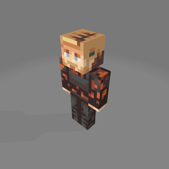 Minecraft 3d Printed Figure With Resin Etsy