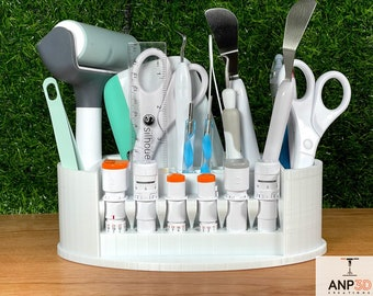 Personalized Silhouette Cameo 4 Tool and Blade Organizer - Blade Caddy  - Tool Holder