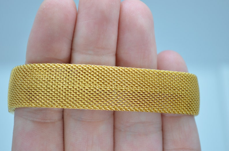 Lobster Clasp 1980/'s MESH DESIGN BRACELET Retro fashion From the 80/'s Mother/'s day Gold tone Vintage Gift for her Retro bracelet