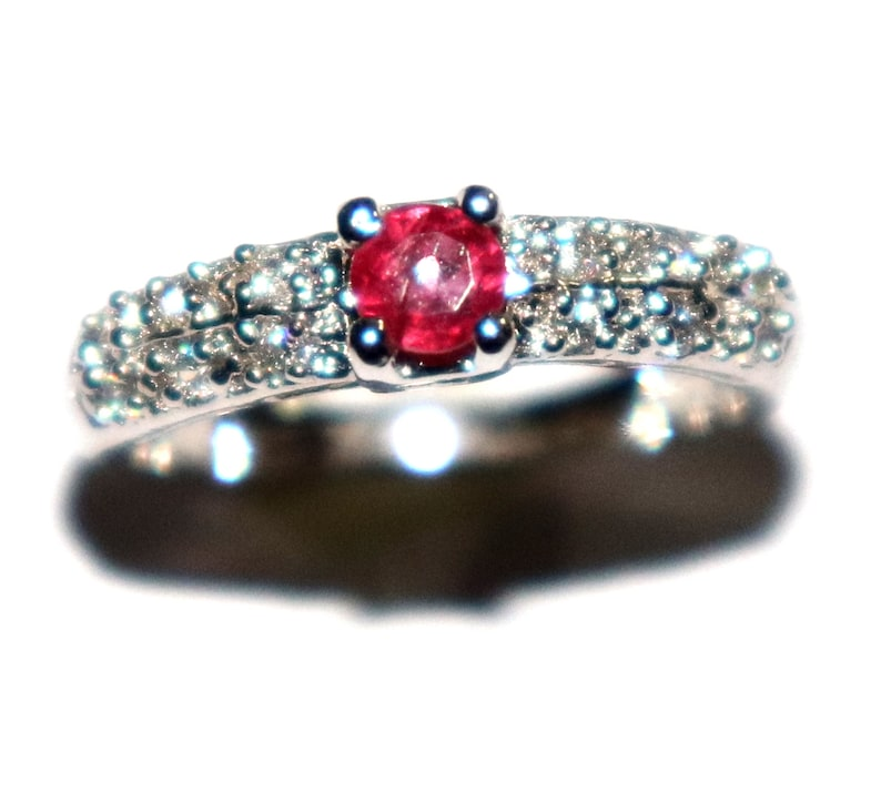 Handmade Beautiful Natural Rubylite Silver ring  Rubylite rings  Rubylite  Jewelry  Rubylite rings  Rings  sterling silver jewelry.