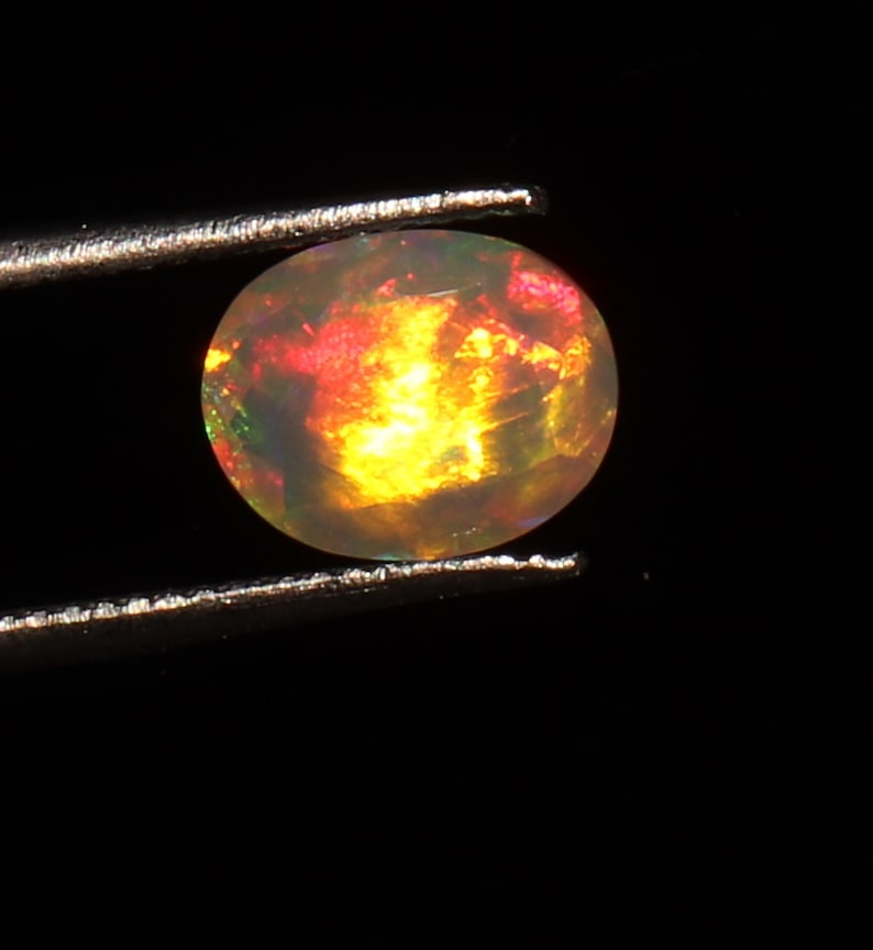 8x10 mm Handmade Natural Ethiopian Fire Opal cut stones  Opal Stone  Opal  Ethiopian Opal  Calibrated Opal  Fire Opal s6391 1.70 ct