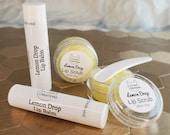 Lemon Drop Lip Balm and Lip Scrub Lip Butter Natural Lip Balm Flavored Lip Butter Beeswax Lip Balm Chapstick Butter Balm