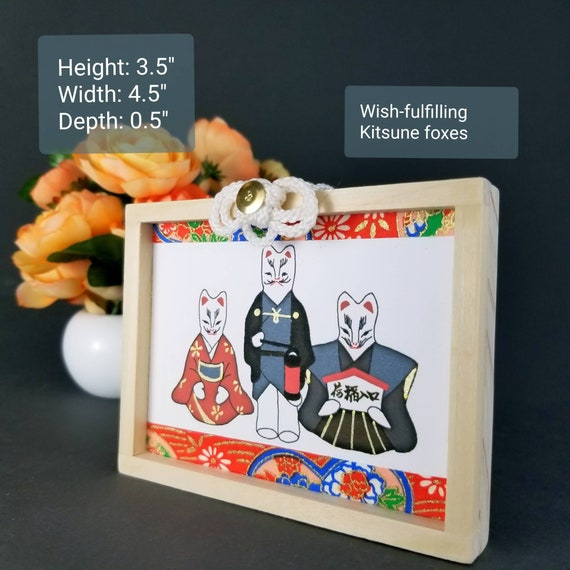 Wish-fulfilling Kitsune Ema Kuchi-Ire Kitsune  Matctmaking fox gods   Relationship and careers wishing charm  Kuchiire Inari