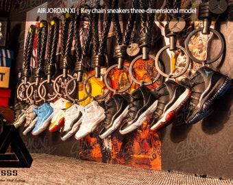 1d221139fba366 AJ11 72-11 3D Mini Sneaker Keychain with Box Bag Gift Set