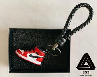 5e33196e247 AJ1 Chicago 3D Mini Sneaker Keychain with Box/Bag Gift Set
