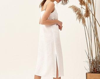 Elegant Linen Dress, Linen Beach Dress, Flax Clothing, Natural Linen Dress, French Linen Dress, Linen Loose Dress, Linen Summer Dress