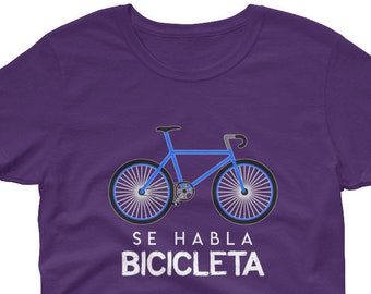 Se Habla Bicicleta - Funny Cycling Women s t-shirt Funny Cycling T-Shirt -  Gifts For Cyclist - Cycling Shirt - Fixed Gear Shirt 5b007da3b
