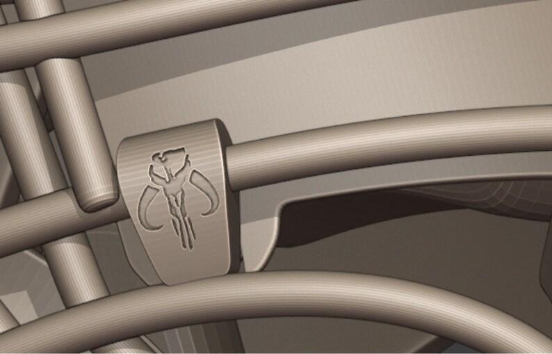 Resin 3D SLA Printed Riddell Speedflex Bounty Hunter Mashup Mini Helmet Kit Replica Unfinished 3D print