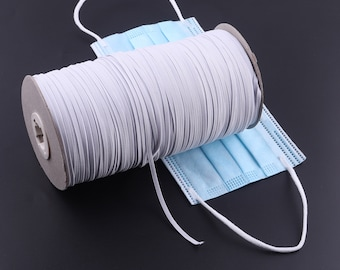 White Flat Elastic Cord 25mm Wide Crafts Ribbon Band Dresses Etsy