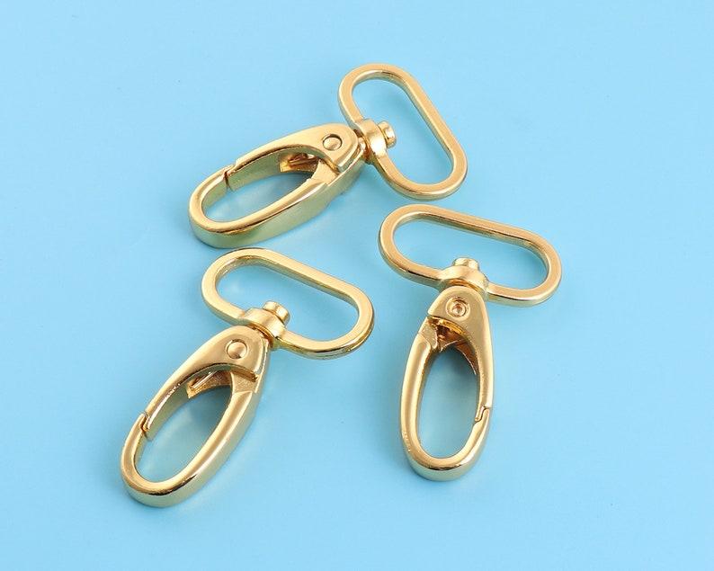 6Pcs 25mm gold lobster clasp,1inch swivel hook,alloy swivel clasps,Purse Clasps,strap hoop,Handbag Snap,Purse Hook