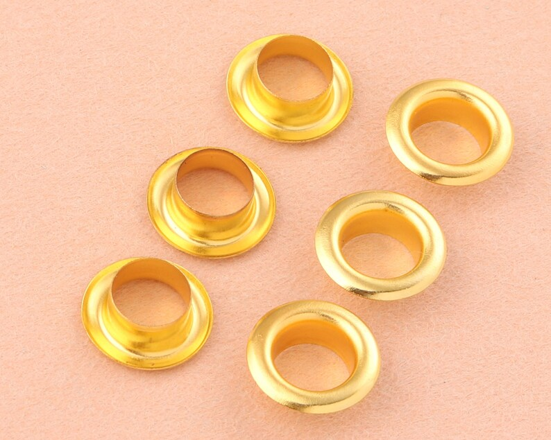 8mm gold eyelets grommets with washers Metal Grommets rivets metal eyelets for canvas clothes leather craft shoes Purse Accessories