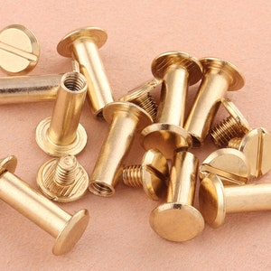 50sets8*9mm hexagon metal Rivet for Leather craft,rose gold Rivets Conchos,Medium Compression Rivets Metal Screw Rivets DIY Jewelry Making