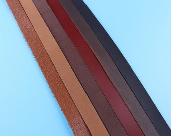 1/2 inch Wide,Leather For Bag Straps,Leather For Belt, Men Belt,Leather strips,Genuine Leather,Calf Leather,Black Leather,Leather supplies