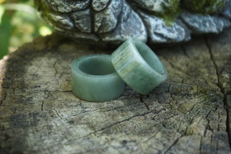 Tube Jade Ring Jadeite Ring