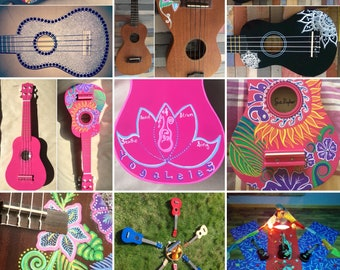 Customised ukulele