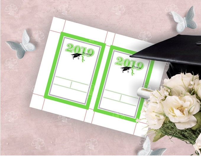 Online Editable Green Invitations Template Class of 2019